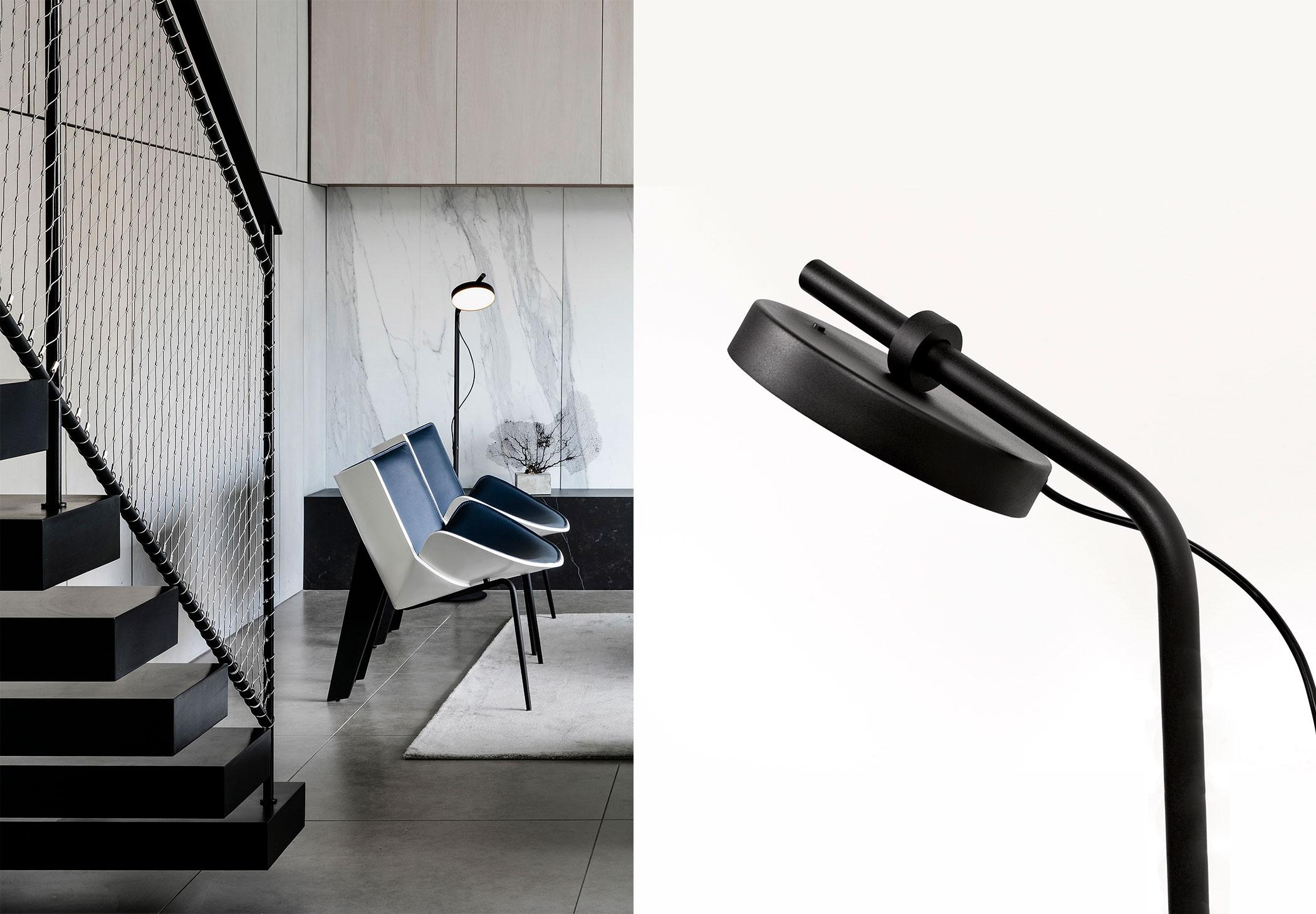 Estiluz Aro P 3548 Floor Lamp Image Ambient 03
